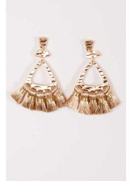 Trend Metallic rose gold thread earrings