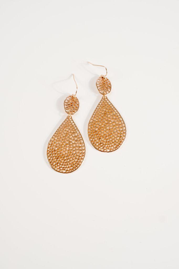 Gold Gold teardrop earring