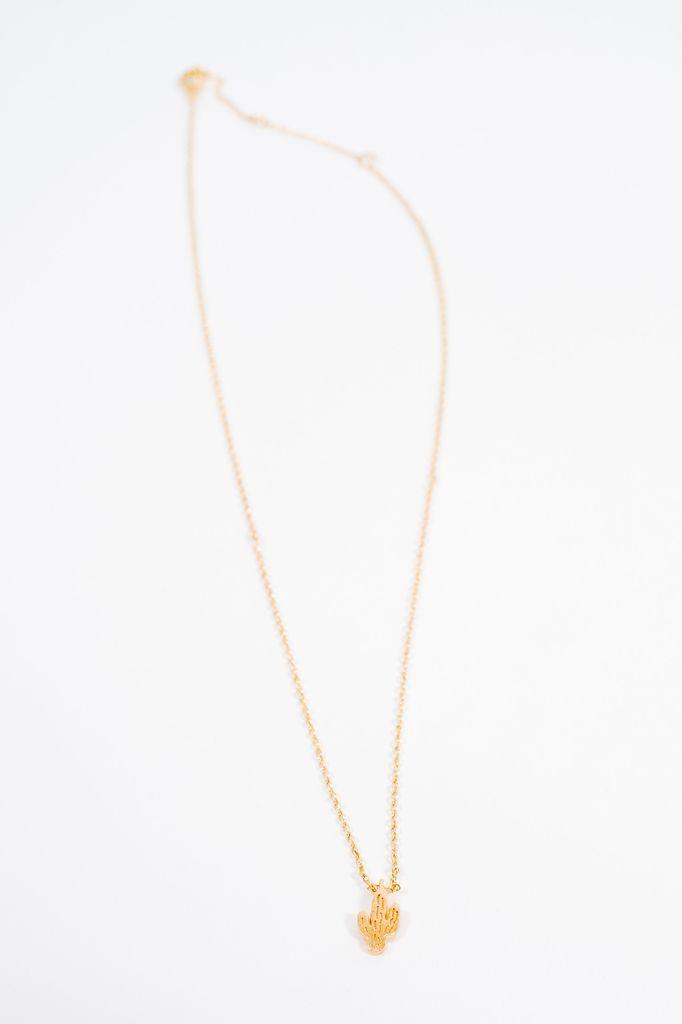 Short Mini cactus necklace