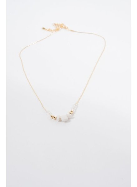 Choker Beaded rock gold choker