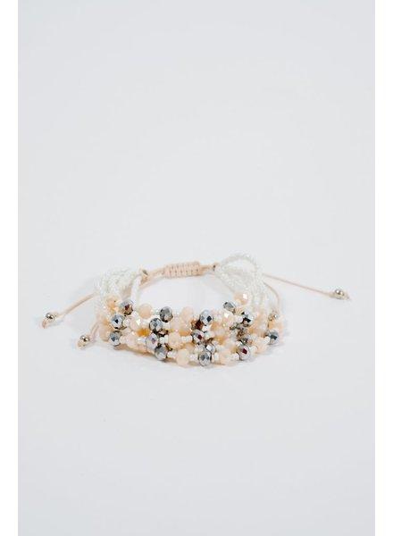 Multi strand pearlized bracelet