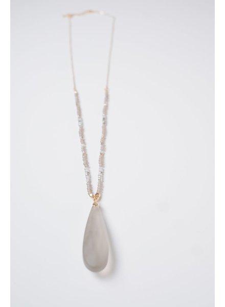 Long Glass Pendant Necklace