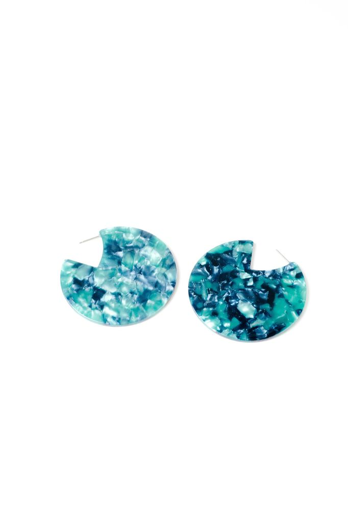 Trend Disk Resin Earring