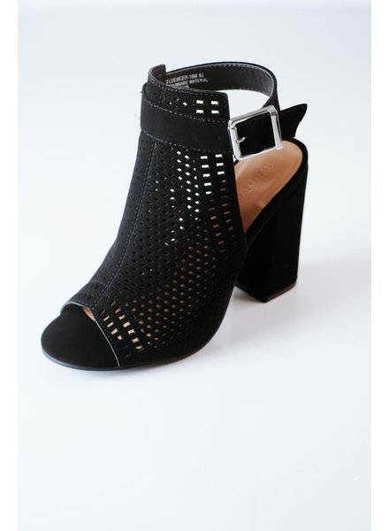 Bootie Perforated Chunky Mule