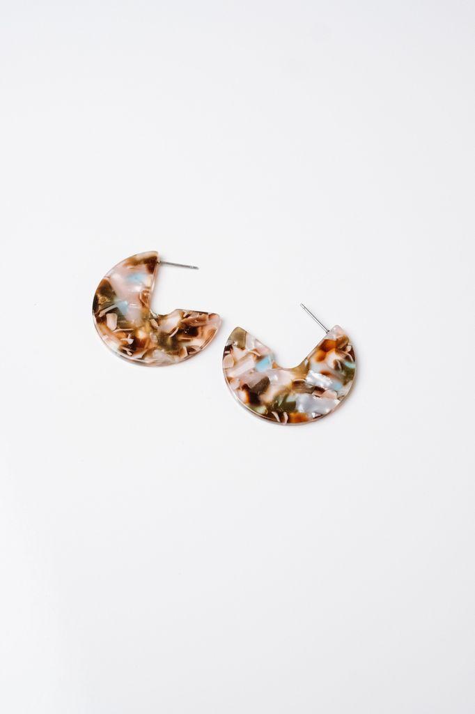 Trend Brown Cutout Hoop Earrings
