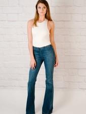 Jeans Elastic Waist Flare Jean
