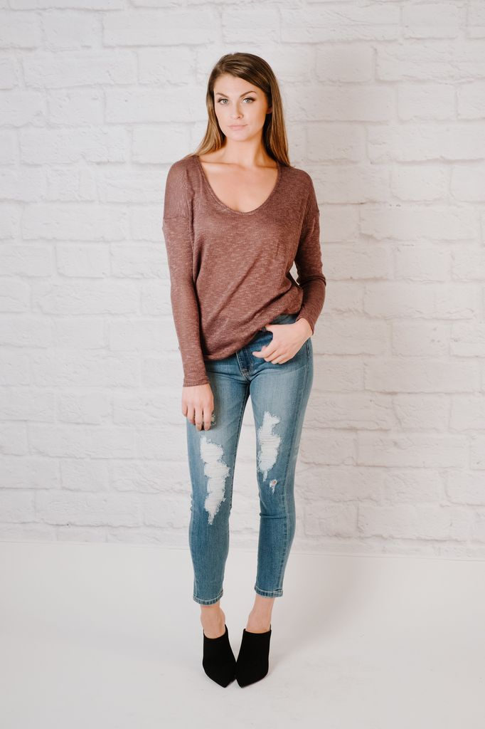 Jeans High Rise Destroyed Skinny