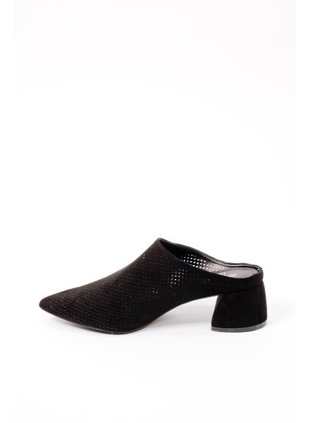 Bootie Black Perforated Mule
