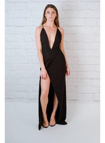 Dressy Lace Applique Gown