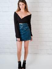 Skirt Belted HR Denim Skrit