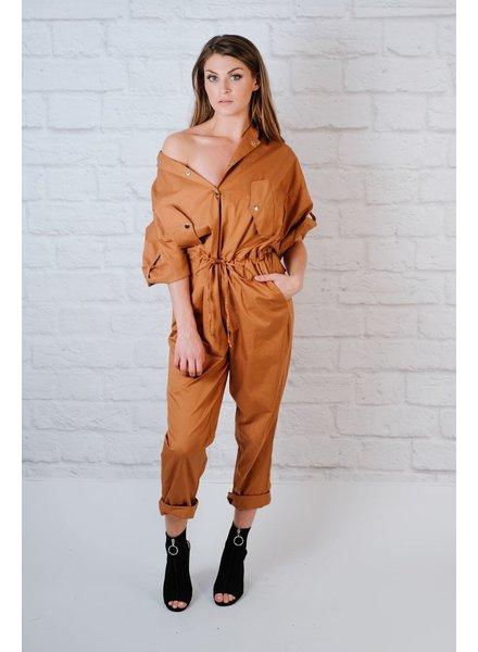 Jumpsuit Camel Boiler Suit