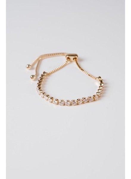 Gold Round Rhinstone Bracelet