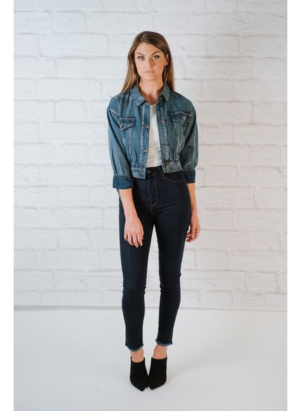 Lightweight Washed Denim Jacket