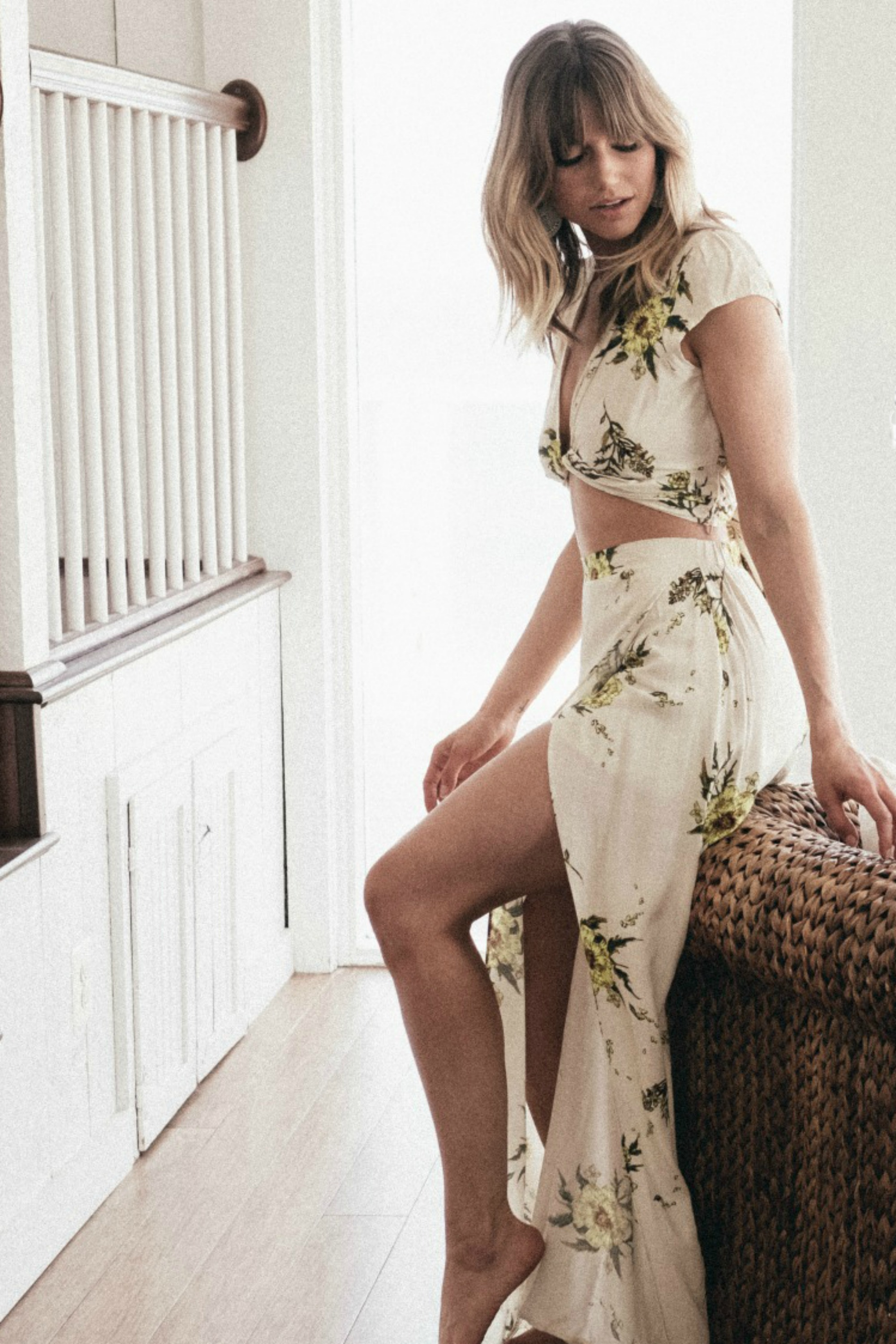 Crop Floral Wrap Crop Top