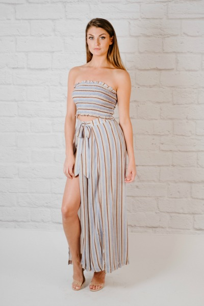 Tube Striped tube top
