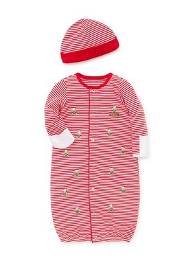 Little Me Holiday bear gown