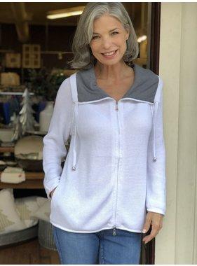 Lulu B Contrast trim sweater by Lulu B