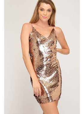 She + Sky Sequin bodycon dress