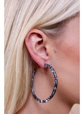 Caroline Hill Conaway Resin Hoop Earring