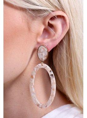 Caroline Hill Hast resin post drop open oval earring