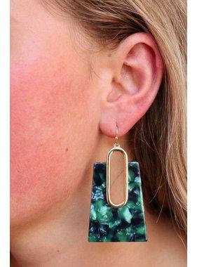 Caroline Hill Antro resin rectangle drop earring