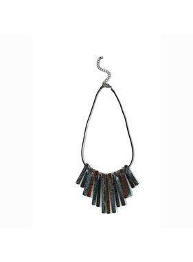 K&K Interiors Metal multi colored strand necklace