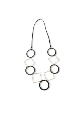K&K Interiors Large square and circle necklace