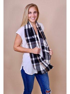 Caroline Hill Garmon plaid infinity scarf