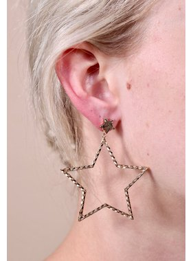Caroline Hill Orlando chain lined post drop metal star earring