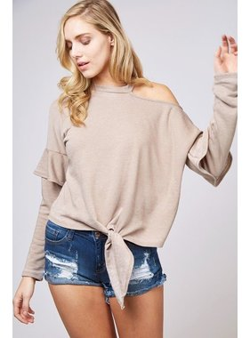 Peach Love California Knit cut out top