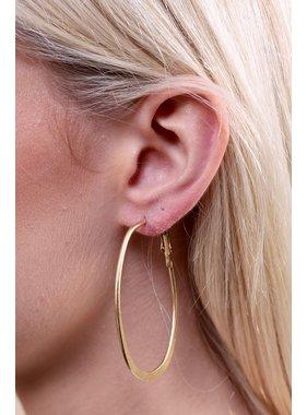 Caroline Hill Lomond flat oval hoop earring