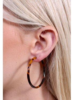 Caroline Hill Harrison 45mm thin resin hoop earring