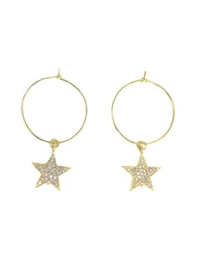 Kristalize Jewelry Pave star hoop
