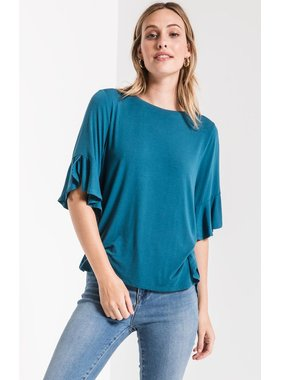 Z Supply Sleek jersey ruffle tee