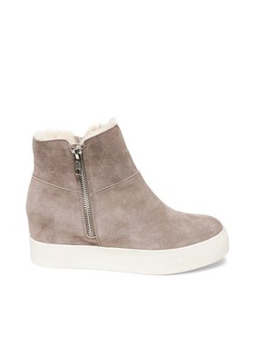 Steve Madden Wanda slip on tennis shoe - fur lined