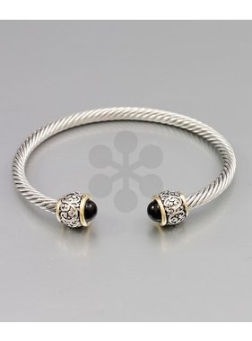 Golden Stella Circle cable cuff