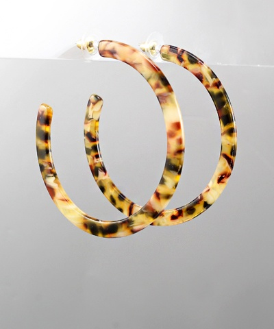 Golden Stella Acrylic open hoops