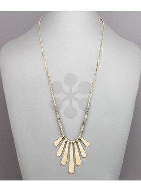 Golden Stella Bar drop beads necklace