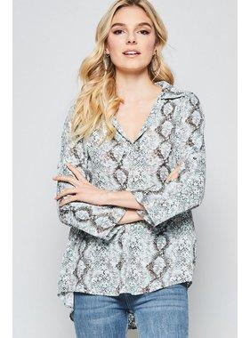 Andree Snakeskin blouse