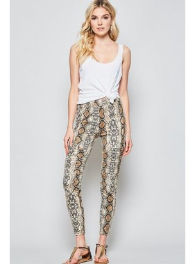 Andree Snakeskin printed leggings
