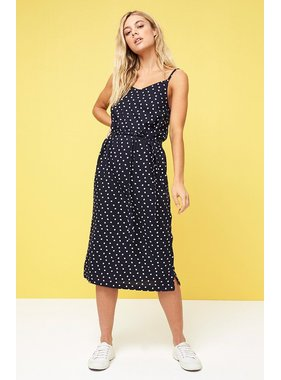 House Of Quirky Pip spot button side slip dress by MINKPINK
