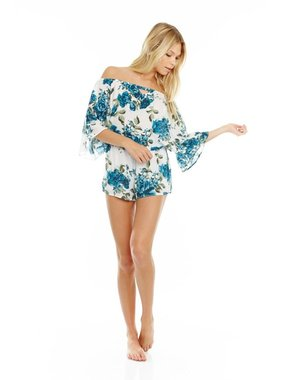 Mary & Mabel English garden off the shoulder romper by Mary & Mabel