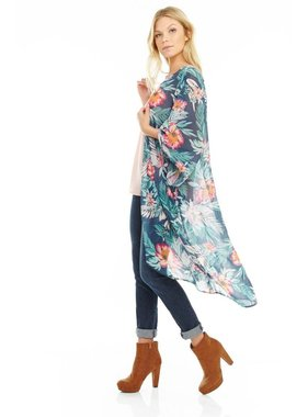 Mary & Mabel Kimono in palm print by Mary & Mabel