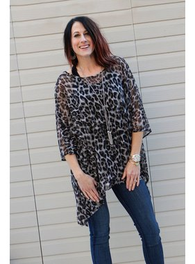 D and D Wholesale Staci animal print mesh tunic <br /> O/S