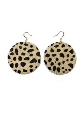 Kristalize Jewelry Callan leather earring