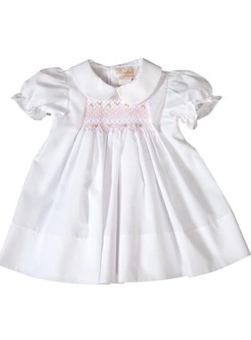 Rosalina Elouisa English Smocked white baby dress