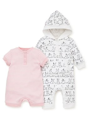 Little Me Bunny 2 piece coverall & romper