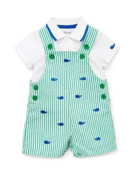 Little Me Whale shortall set