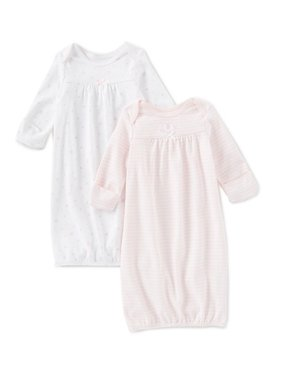 Little Me Elephant 2 pack gown set