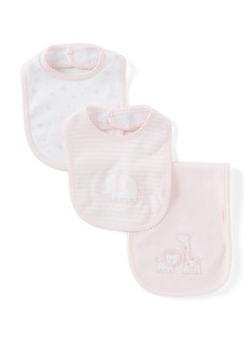 Little Me Safari bib & burpcloth set
